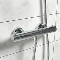 Jupiter Divine Cool Touch Round Thermostatic Bar Mixer Shower Valve - Chrome TBV06-CT